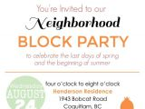 Block Party Invitation Template Items Similar to Summer Block Party Backyard Bbq