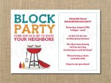 Block Party Invitation Template Neighborhood Block Party Cookout Invitation Grilling Out