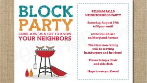 Block Party Invitation Template Neighborhood Block Party Cookout Invitation Grilling Out