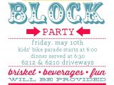 Block Party Invitation Template Planning Summer Block Party Party Invitations