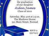 Blue and Gold Graduation Invitations Blue and Gold Graduation Invitations