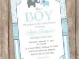 Blue and Gray Elephant Baby Shower Invitations Blue and Gray Baby Shower Invitation Elephant Baby Shower