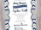 Blue and Gray Elephant Baby Shower Invitations Elephants Baby Shower Invitation Navy Blue and Grey Navy