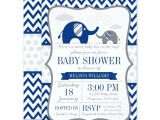 Blue and Gray Elephant Baby Shower Invitations Navy Blue Gray Elephant Baby Shower Invitations Print