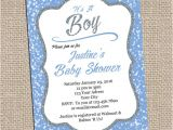 Blue and Silver Baby Shower Invitations Blue and Silver Baby Shower Invitation Printable Invitation