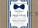 Blue and Silver Baby Shower Invitations Bow Tie Baby Shower Invitations Printable Navy Blue
