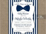Blue and White Baby Shower Invitations 25 Best Ideas About Bowtie Baby Showers On Pinterest