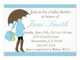"Blue and White Baby Shower Invitations Blue and White Polka Dot Baby Shower Invitation 5"" X 7"