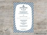 Blue and White Baby Shower Invitations Classic Blue and White Nautical Baby Shower Invitation