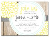 Blue and Yellow Bridal Shower Invitations Bridal Shower Invitation Yellow and Milk Bottle Blue by