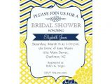 Blue and Yellow Bridal Shower Invitations Navy Blue and Yellow Bridal Shower Invitation