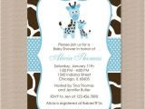 Blue Giraffe Baby Shower Invitations Blue and Giraffe Baby and Blue On Pinterest