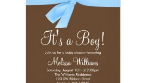 Blue Green Brown Baby Shower Invitations Blue Brown Bow Polka Dot Baby Shower Invitations