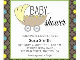 Blue Green Brown Baby Shower Invitations Green Yellow Blue & Brown Baby Shower Invitation 5 25