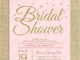 Blush Pink and Gold Bridal Shower Invitations Blush Pink Gold Glitter Bridal Shower Invitation