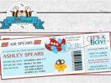 Boarding Pass Baby Shower Invitations Airplane Aviator Baby Shower Invitation