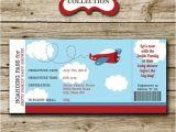 Boarding Pass Baby Shower Invitations Airplane Baby Shower Ticket Invitation