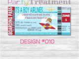 Boarding Pass Baby Shower Invitations Baby Shower Boarding Pass Invitation 010