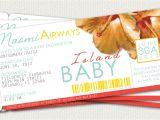 Boarding Pass Baby Shower Invitations Boarding Pass Baby Shower Invitation by Leitsispieces On Etsy