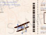 Boarding Pass Baby Shower Invitations Diy Printable Vintage Airplane Boarding Pass Baby Shower