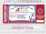 Boarding Pass Baby Shower Invitations Nautical Baby Shower Boarding Pass Invitation 048