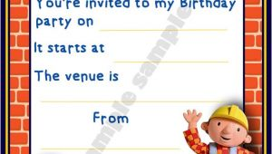 Bob the Builder Birthday Party Invitations Bob the Builder Birthday Party Invitation Invites by Shazian