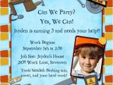Bob the Builder Birthday Party Invitations Construction Birthday Party Invitations Dump Trucks Boys