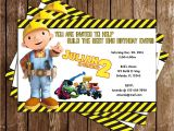 Bob the Builder Birthday Party Invitations Novel Concept Designs Bob the Builder Constuction