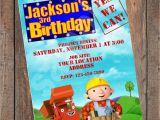 Bob the Builder Party Invitations Bob the Builder Birthday Invitation original by