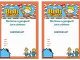 Bob the Builder Party Invitations Bob the Builder Birthday Invitations Birthday Printable