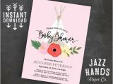Boho Chic Birthday Invitation Template Teepee Boho Chic Baby Shower Invitation Template