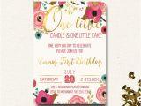 Boho Chic Birthday Invitations First Birthday Invitation Floral Boho Chic Invite E Little