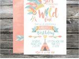 Boho Chic Birthday Invitations Wild E Birthday Invitation Tribal Invite Boho Chic