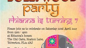 Bollywood Party Invitations Free Bollywood Children 39 S Party Invitation From 0 80 Each