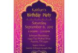 Bollywood theme Party Invitation Card Bollywood Arabian Nights Birthday Invitation Card Zazzle Com