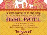 Bollywood theme Party Invitation Card Indian Spice Little Peanut is On the Way so Fun for A
