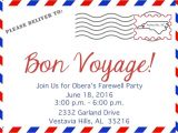 Bon Voyage Party Invitation Template 4104 Bon Voyage Invitation Poppyseed Paper