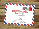 Bon Voyage Party Invitation Template Bon Voyage Party Invitations Oxsvitation Com