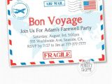 Bon Voyage Party Invitation Template Items Similar to Travel Farewell Party Invitation Bon
