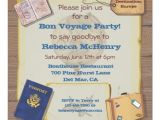 Bon Voyage Party Invitation Template Rustic Vintage Bon Voyage Party Invitation Zazzle Com
