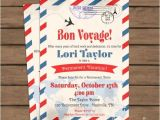 Bon Voyage Party Invitation Template Travel theme Retirement Party Invitation Bon Voyage