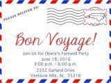 Bon Voyage Party Invitations 4104 Bon Voyage Invitation Poppyseed Paper