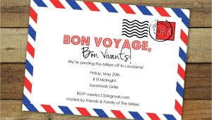 Bon Voyage Party Invitations Custom Bon Voyage Party Invitation Goodbye Party Airmail