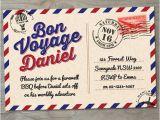 Bon Voyage Party Invitations Items Similar to Bon Voyage Farewell Printable Invitation