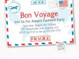 Bon Voyage Party Invitations Travel Farewell Party Invitation Bon Voyage Going Away