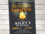Bonfire Party Invitations Free Bonfire Birthday Invitation Camp Birthday Invitation Smores