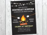 Bonfire Party Invitations Free Bonfire Birthday Invitations Best Party Ideas