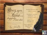 Book themed Bridal Shower Invitations Book themed Baby Shower Invitation Story Book Printable