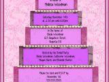 Book themed Bridal Shower Invitations Bridal Cake themed Shower Invitation Scrap Book themed