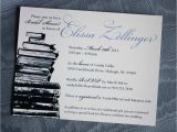 Book themed Bridal Shower Invitations Navy Blue & Periwinkle Book themed Bridal Shower